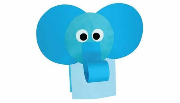 ساخت کاردستی فیل با کاغذ رنگی با ایده های ساده